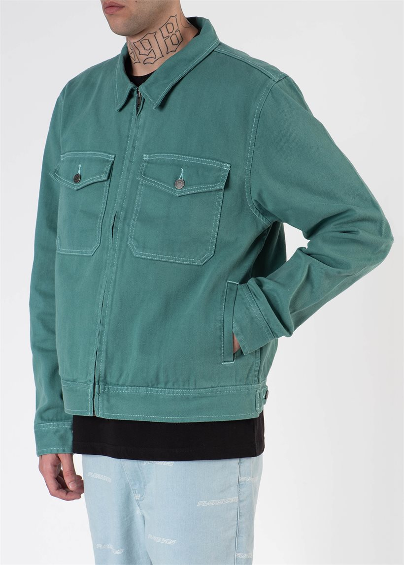 Stussy 115454 Overdyed Garage Jacket Mint Dangerousminds Gr